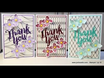 No.398  - HOW TO. . .Heat Embossing Die-cuts - UK Stampin' Up! Independent Demonstrator