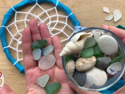 Part 3: How to add Sea Glass & Shells to your Dreamcatcher