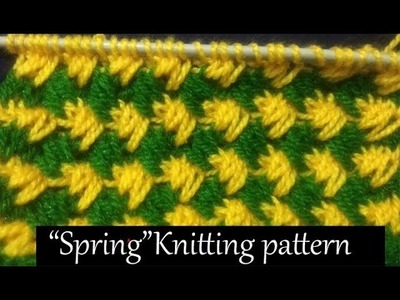 बसंती.Spring  Knitting pattern Design   2018