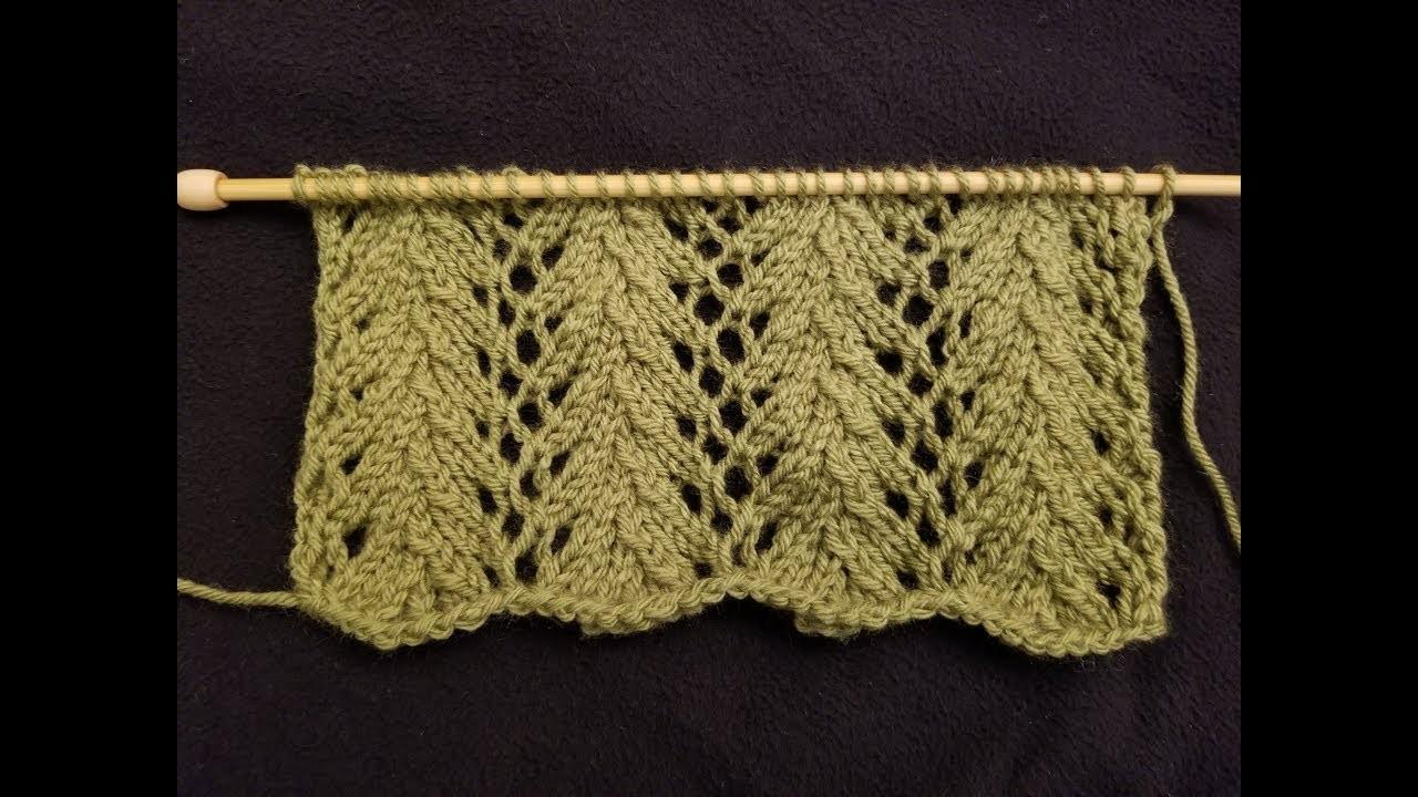 The Fern Lace Stitch Knitting Tutorial!