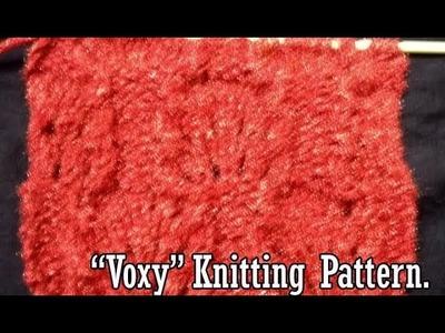 Voxy  Knitting pattern Design  2018