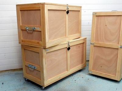 Watch 1 way to make a storage trunk out of reinforced plywood ????
