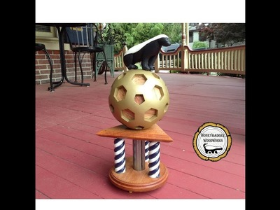 Woodworking : Wooden Soccer Ball Trophy.How-To Part 1