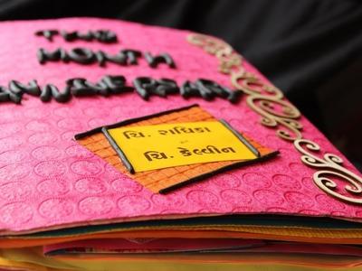 Anniversary Scrapbook Idea | Handmade | Tutorial by Radhi