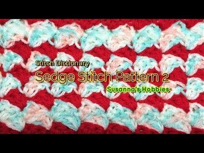 【Crochet Stitch Dictionary】かぎ針編み 傾きハーフシェル(セッジ) Inclined Half Shell (Sedge 2)  日本語English スザンナのホビー