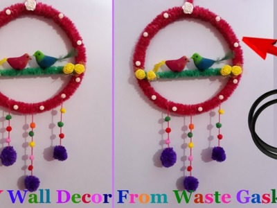 DIY how to Make Wall decor from waste gasket Step by Step at home|Best out of waste |room decor idea