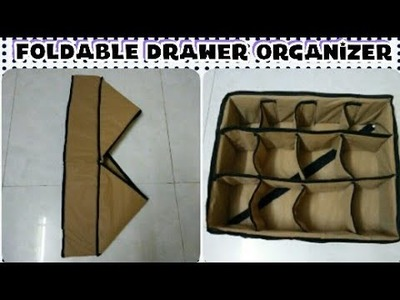 DIY: How To Sew Foldable Drawer Organizer Box By Anamika Mishra.
