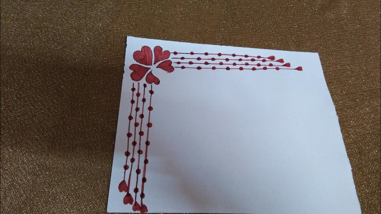 Easy simple border designs for projects file.how to make ...