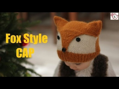 Fox Style Baby Cap Knitting in Hindi