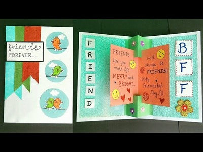 Friendship Day PopUp Card.How to make Card for Friends.Handmade Card for Best Friend.Card for friend
