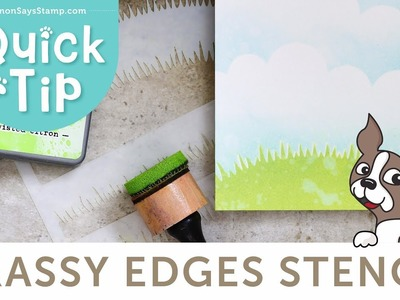 Grassy Edges Stencil | A Cardmaking and Papercrafting How To