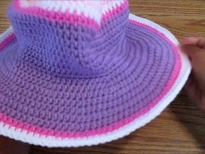 Half double crochet sunhat round 30 to end