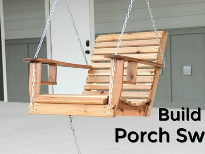 How to Build a Porch Swing - Single Seater Porch Swing