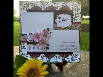 How to Create a Scrapbook Layout Stitched All Around Stampin' Up!