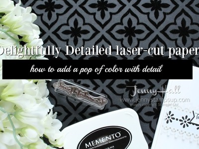 How to create a simple black & white design using Stampin Up products with Jenny Hall