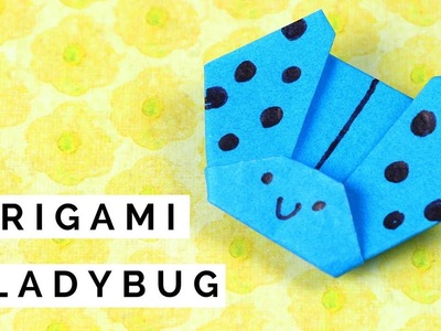 How to Fold an Origami Ladybug (Ladybird) | Easy Origami Paper Crafts for Kids
