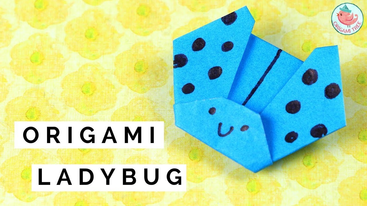 How to Fold an Origami Ladybug (Ladybird)   Easy Origami Paper Crafts for Kids