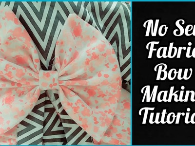 "HOW TO:Make a 4"" No Sew Fabric Bow At Home