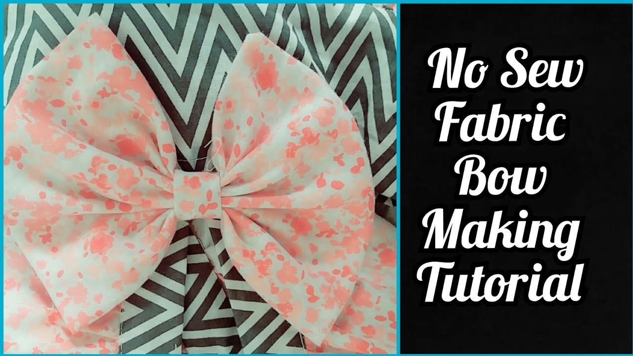"""HOW TO:Make a 4"""" No Sew Fabric Bow At Home