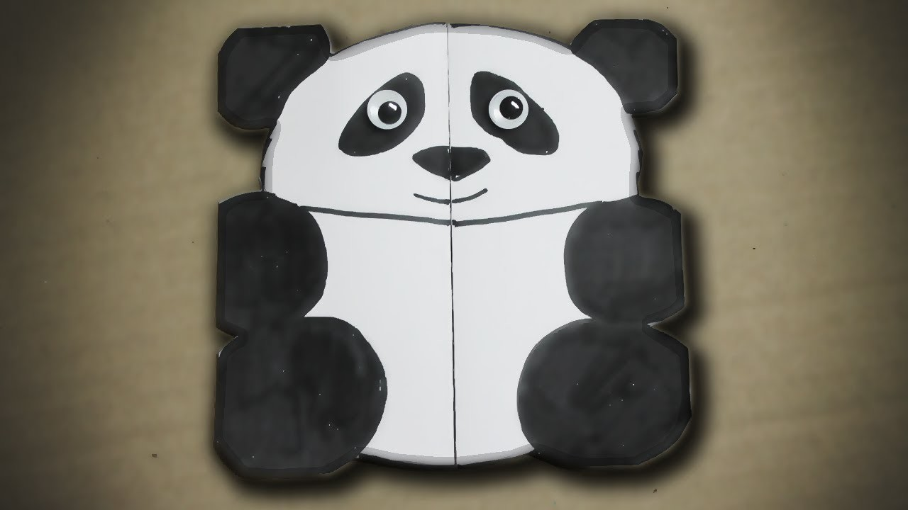 How to make a birthday card for children - Panda Greeting Card
