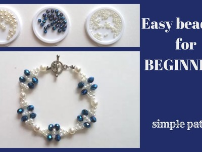 ???? How to make a bracelet at home. Learn beading -easy -fast-free????