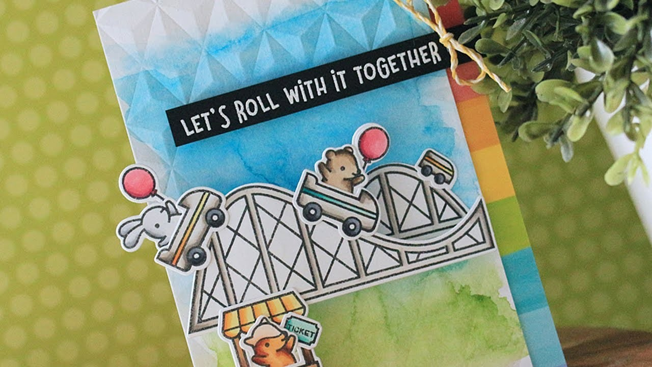 How to make a fun roller coaster themed card