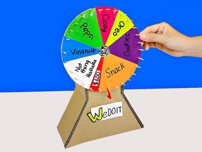 How To Make A Prize Wheel from Cardboard