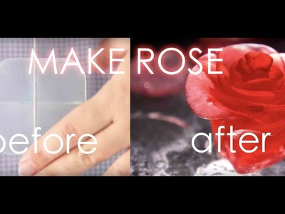 How To Make a Rose Flower With Soap | art and  crafts | |homemade soap rose flower