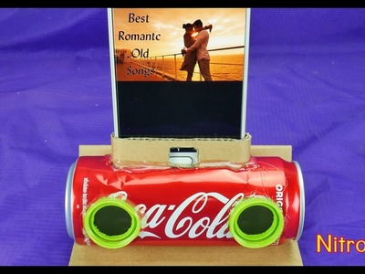 HOW TO MAKE  A SODA CAN MOBILE PHONE SPEAKER  VERY EASY
