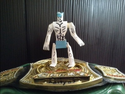 How to make an easy paper action figure part (1.2) .#WWE