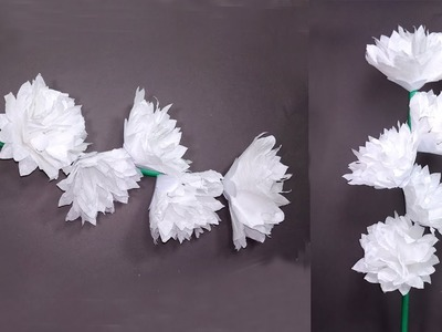 How to Make Easy & Beautiful Tissue Paper Flowers | Tissue Stick Flower | Jarine's Crafty Creation