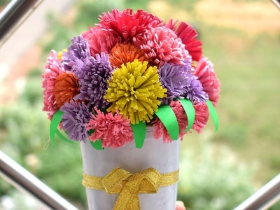 How To Make Flower With Paper: Home Decorations Diy