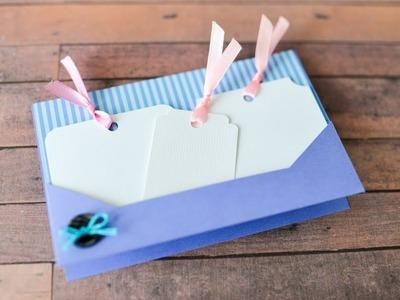 How to make : Greeting Card with a Pocket | Kartka Okolicznościowa z Kieszonką - Mishellka #295 DIY