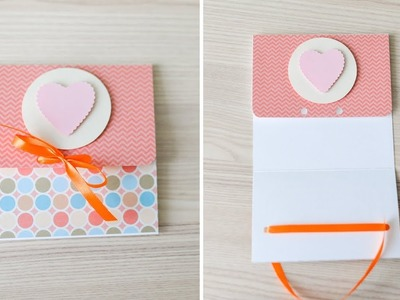 How to make : Greeting Card with a Ribbon | Kartka Okolicznościowa - Mishellka #292 DIY