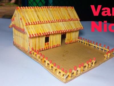 How to make Match stick House --Vary Easy Matchsrick house