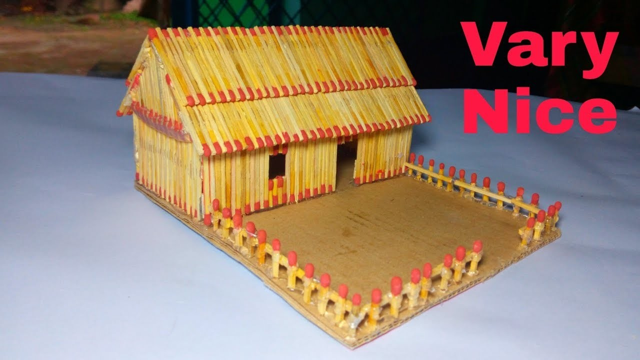 How to make Match stick House --Vary Easy Matchsrick house