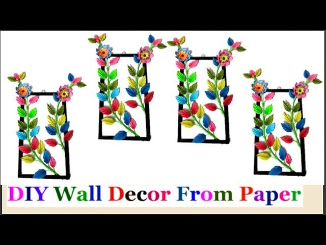 How to make Newspaper.paper Wall Decor at home |DIY Wall.room Decoration idea| Newspaper Craft idea
