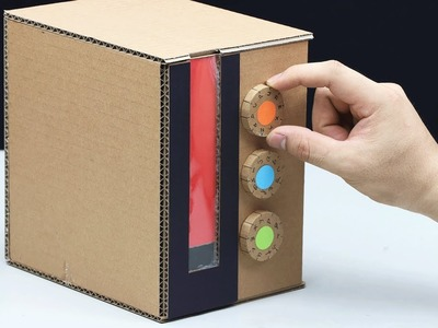 How to Make Personal Safe Box and Saving Coin from Cardboard