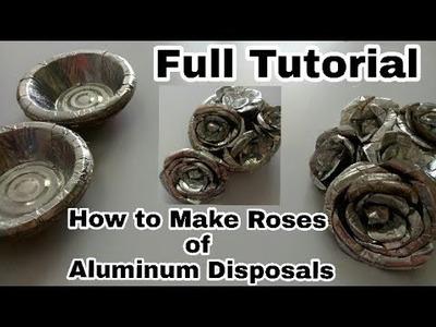 How to make Roses of Aluminum Disposals(Full Tutorial)
