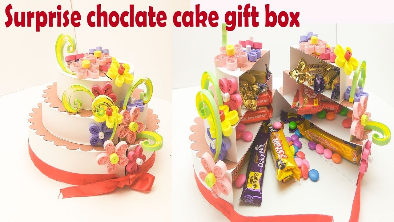 How To Make Surprise Chocolate Cake Gift Box