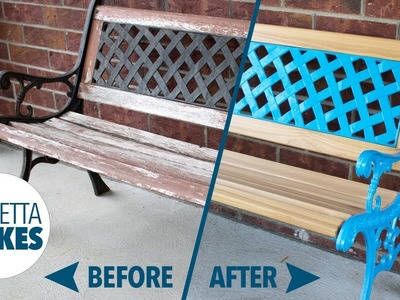 How to Restore an Outdoor Park Sitting Bench. DIY