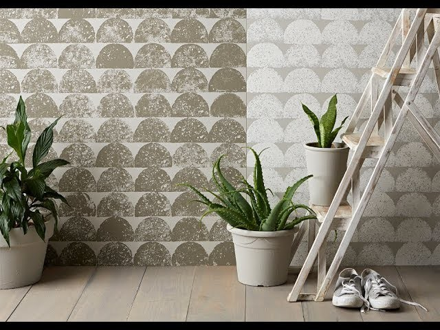 How to stencil a wall pattern with half circles