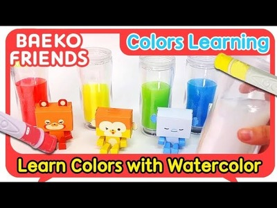 Learn Colors | Learn Colors with watercolor | Baeko! Colors Learning | Kids Learn Colors