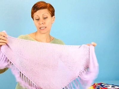 Let's make a simple shawlette and practice our Russian knitting skills
