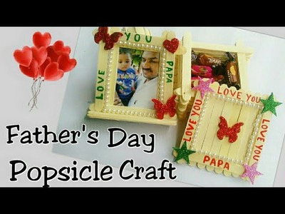Popsicle photo frame and gift box | how to make photo frame | DIY Popsicle photo frame and box
