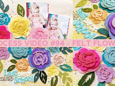 Process Video #94 - How to Make Layered Felt Flowers