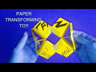 Transforming Paper Toy - How to Make