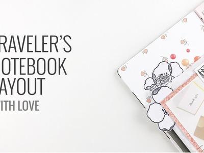 Traveler's Notebook Layout | Scrapbook.com Stamps
