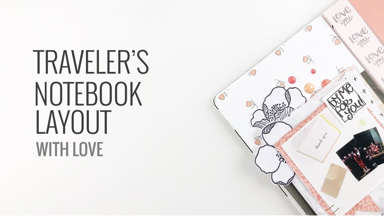 Traveler's Notebook Layout   Scrapbook.com Stamps