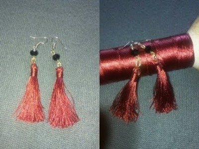 Tutorial on how to make this beautiful red earrings